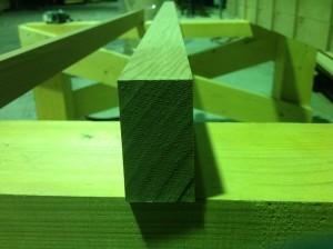 レッドシダー(米杉)傾斜加工