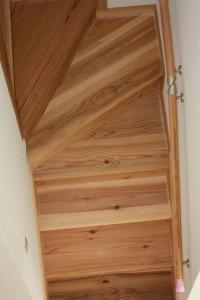 杉無垢階段材