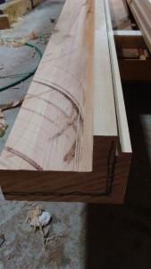 桜框、加工