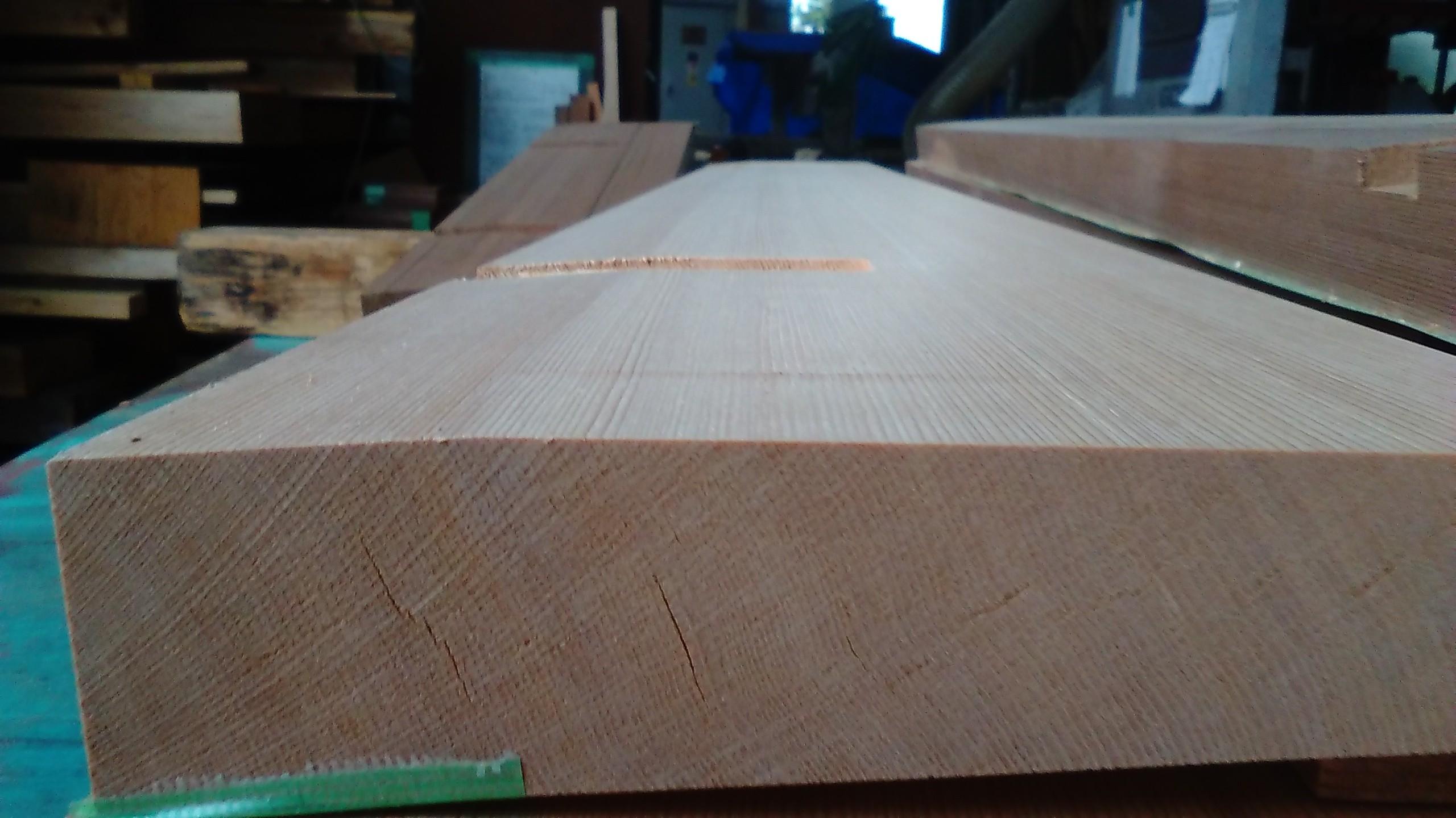枠材、傾斜加工