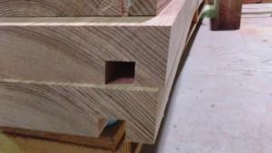 タモ無垢階段材
