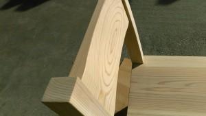 杉椅子、背板