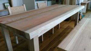 杉無垢、一枚板ダイニングテーブル