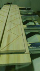 階段側板、加工